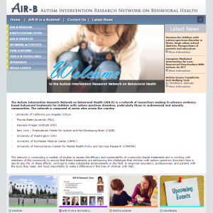 AIR-B Network website homepage